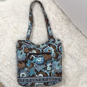 Vera Bradley brown/turquoise shoulder bag